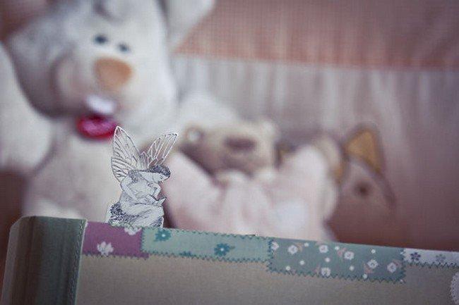 fairy silver bookmark