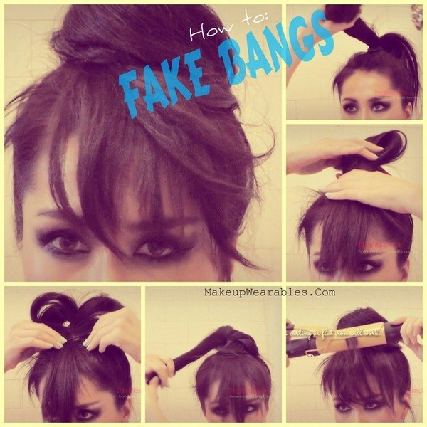 fake bangs ponytail