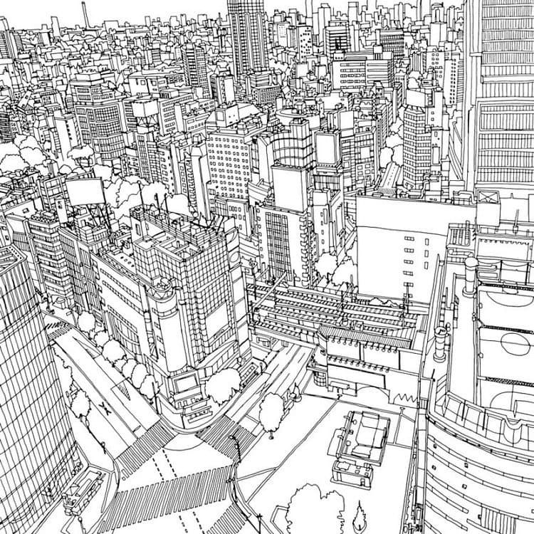 This Coloring Book Takes You To Fantastic Cities Both Real ...