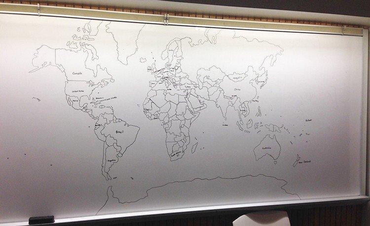 finished world map