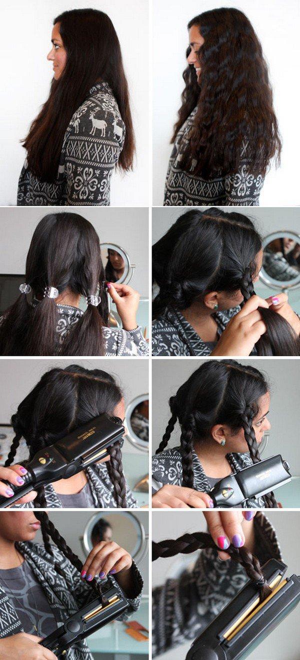 flat iron braids