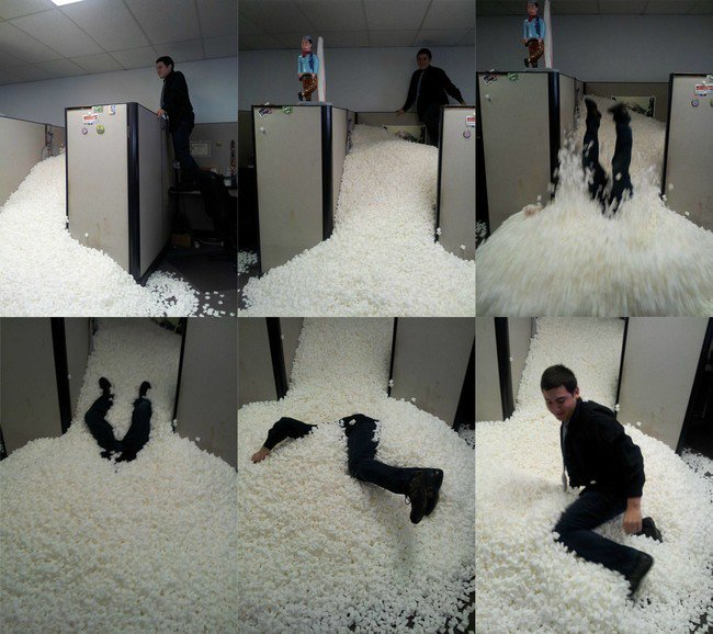 foam office man