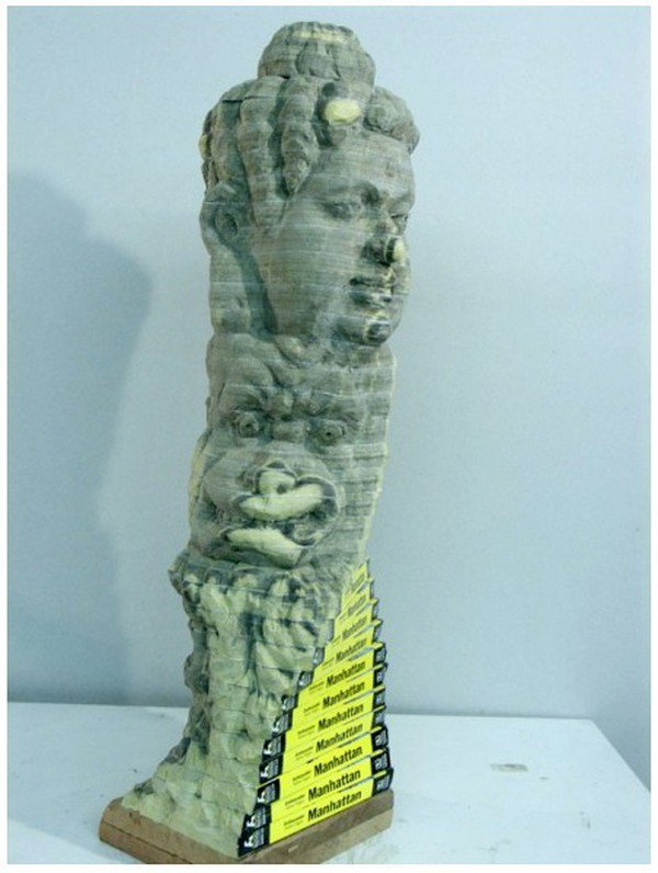front twisted chen sculpture