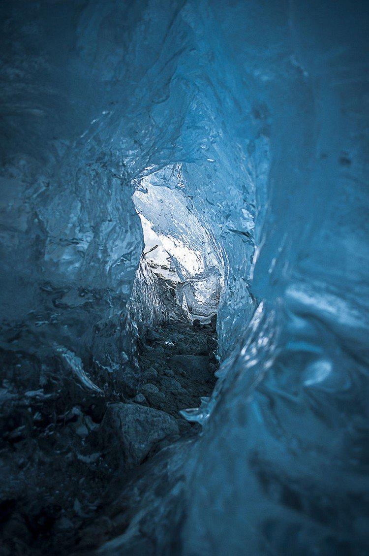 glacier ice walls