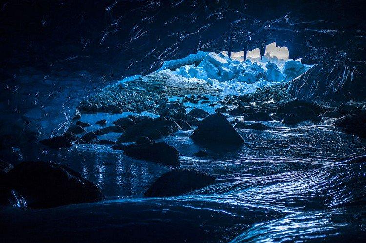 glacier leading outside