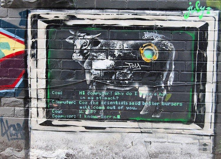 graffiti-cow