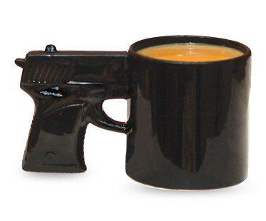 gun mug black