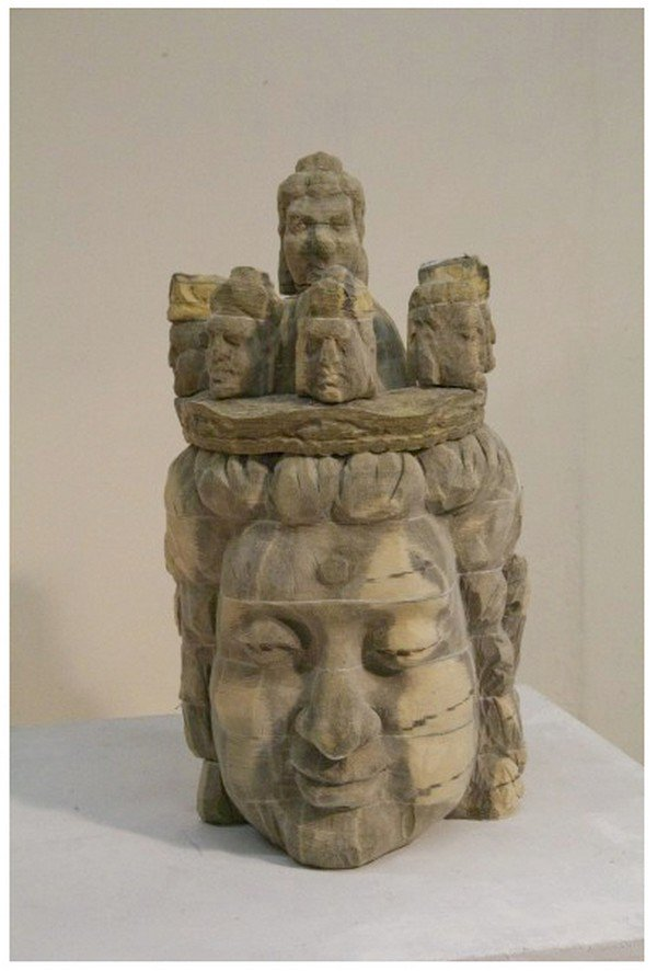 heads chen sculpture front