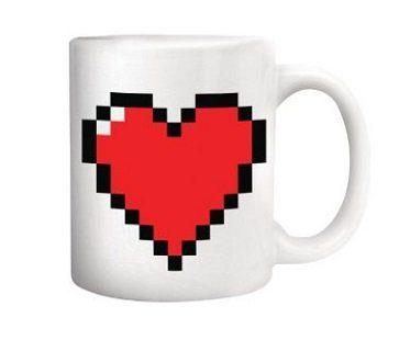 heat changing pixel heart mug hot