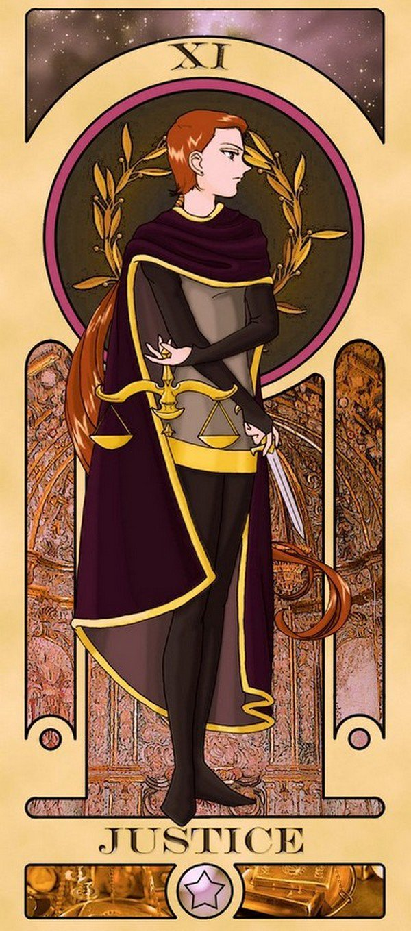 justice sailor moon tarot