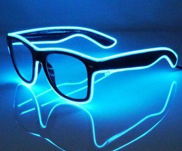 light up glasses blue