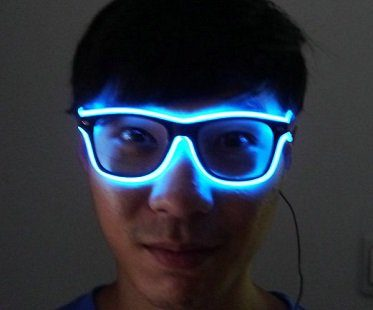 light up glasses blue wired