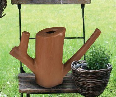 log watering can