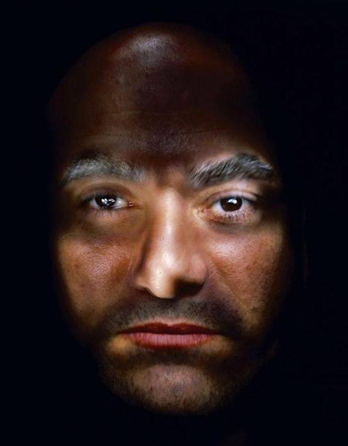 man brown eyes illuminated
