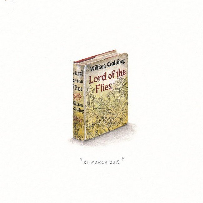 march book tiny painting lorraine loos