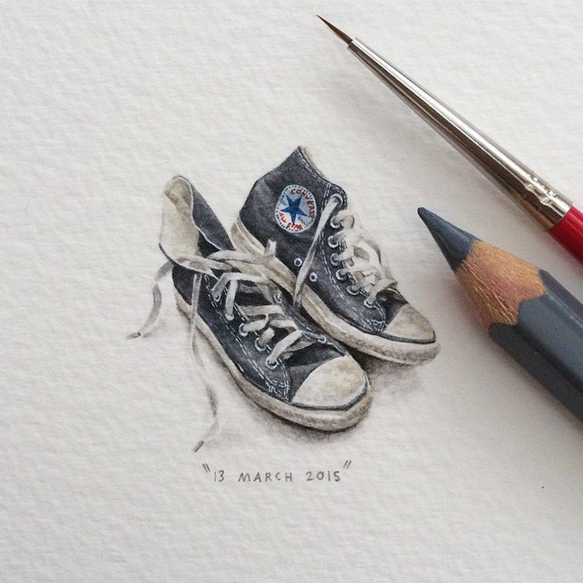 march converse tiny painting lorraine loos