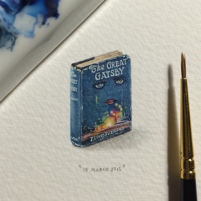 march gatsby tiny painting lorraine loos