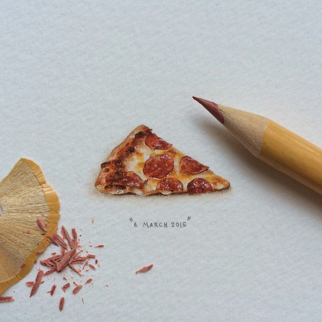 march pizza tiny painting lorraine loos