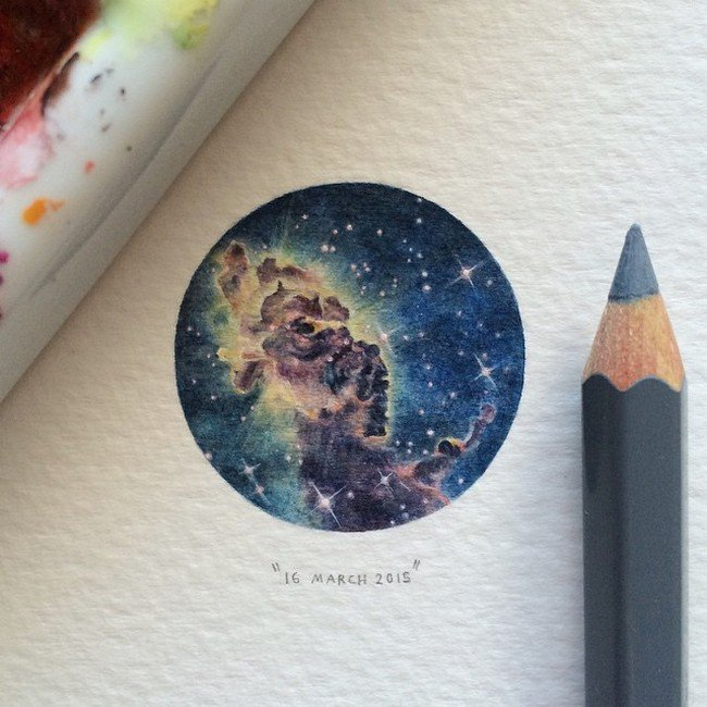 march space tiny painting