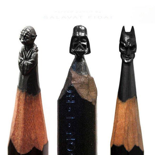 mini pencil sculptures star wars