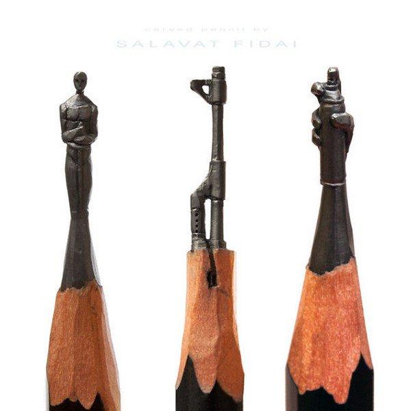 mini pencil sculptures
