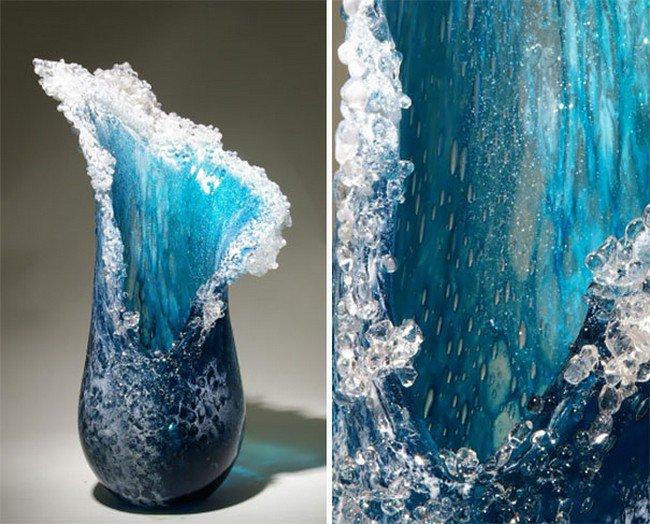 ocean wave vase