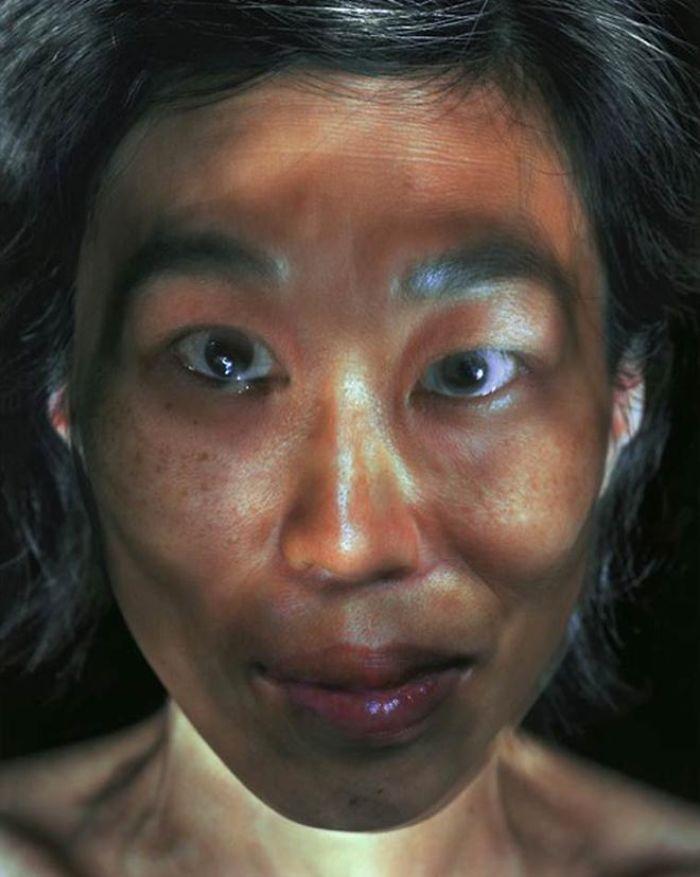 oriental woman illuminated