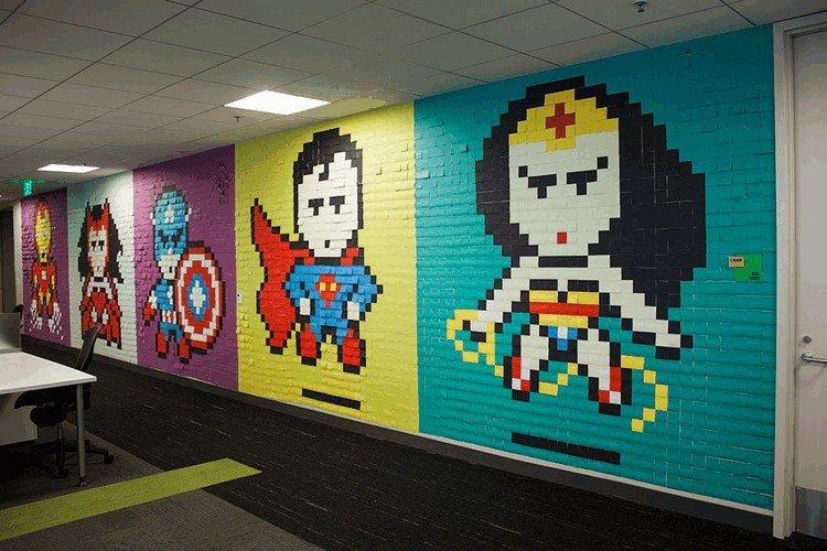 post it mural