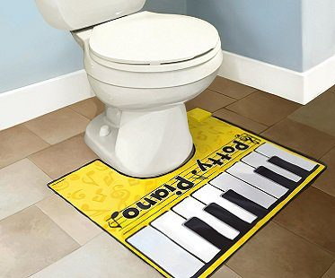 potty piano toilet