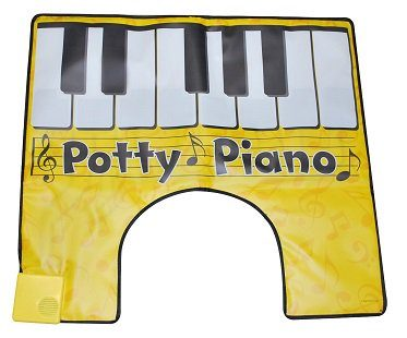 potty piano toilet yellow