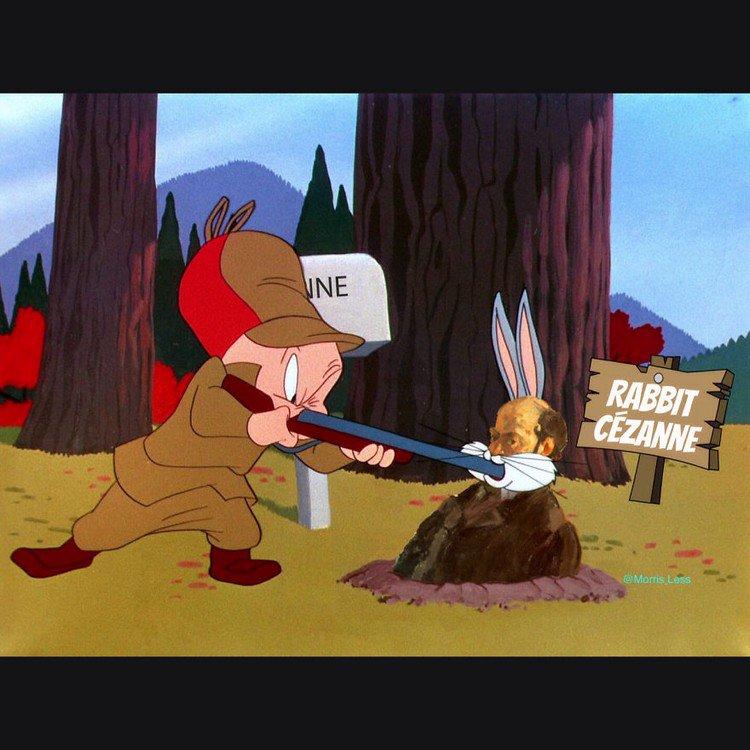 rabbit cezanne