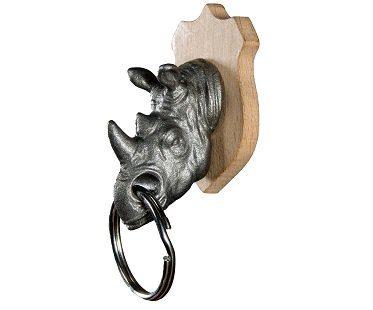 rhino key holder animal head