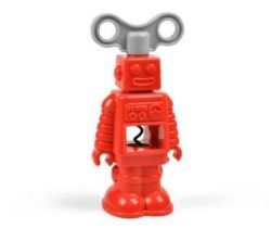 robot corkscrew red