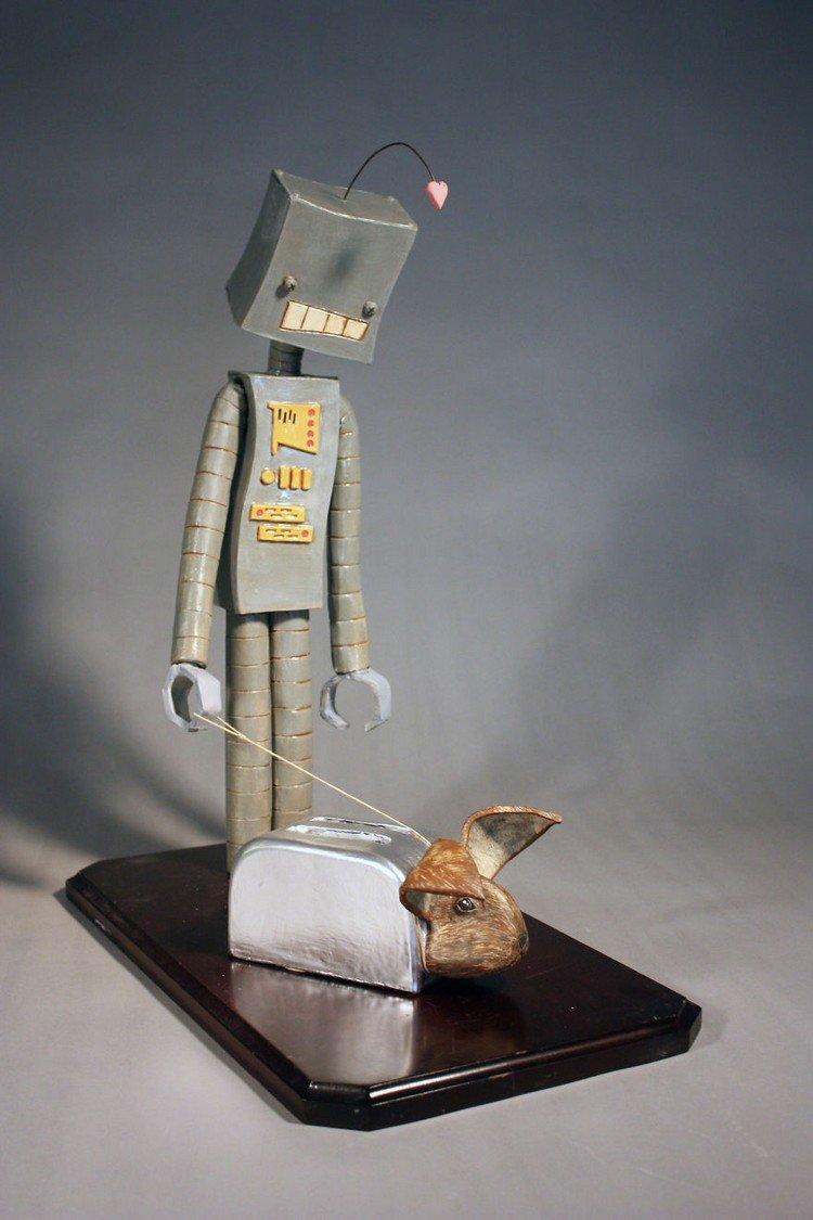 robot heart rabbit toaster