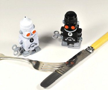 robot salt and pepper shaker