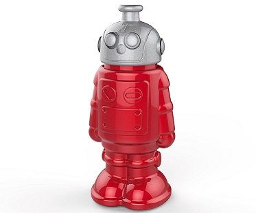robot sports bottle red