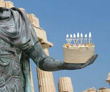 roman numeral birthday candles