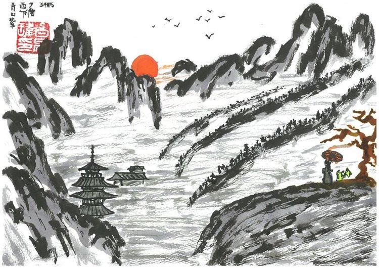 samuel peck sunset