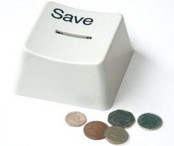 save button money box