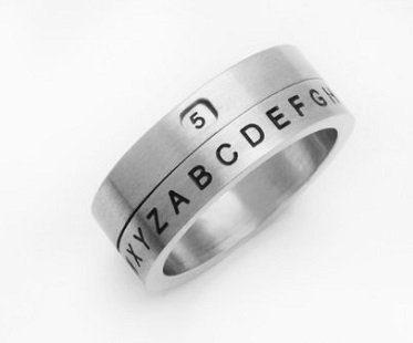 secret decoder ring silver