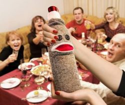 sock monkey wine bottle caddy