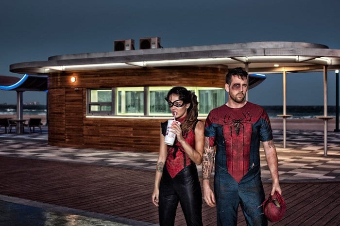 spiderman and spiderwoman