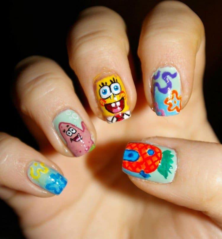 sponge bob nails