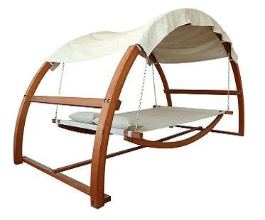 swing bed with canopy chair