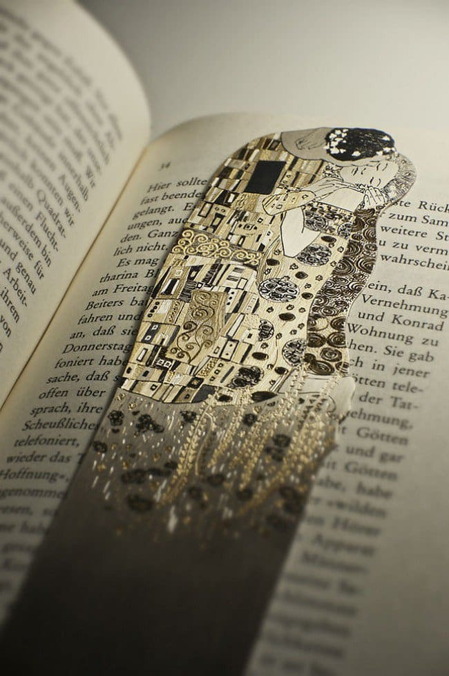 the kiss silver bookmark