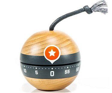 ticking bomb kitchen timer wooden