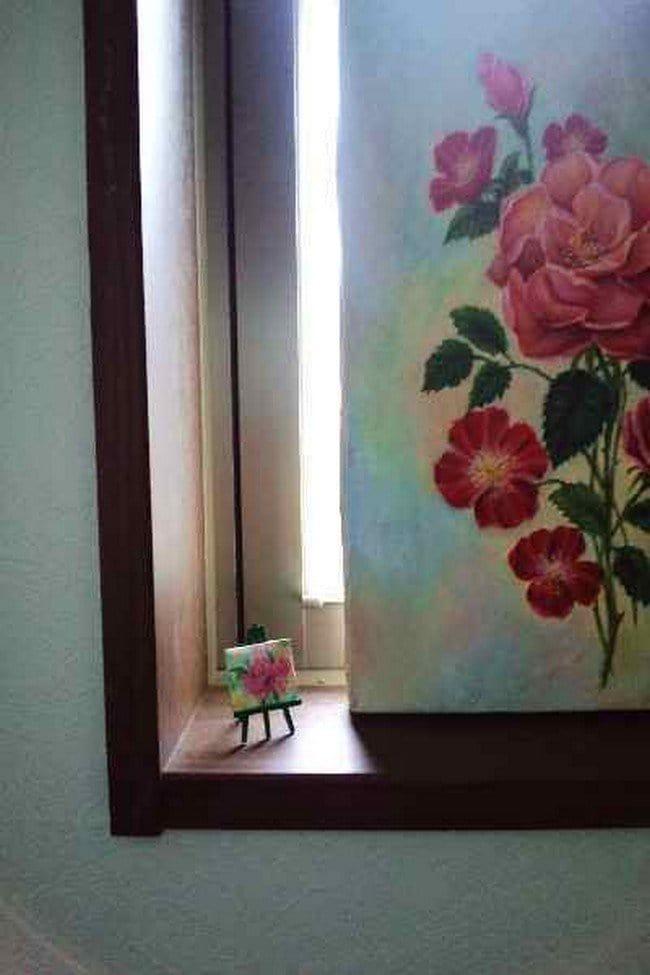 tiny rose canvas