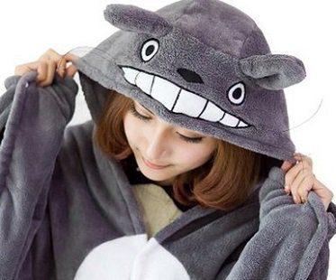totoro cloak poncho hood