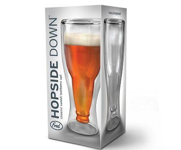 upside down beer glass box