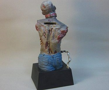 walking dead zombie money bank bust